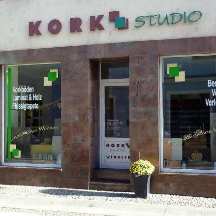 Korkstudio Winkler - Ausstellung Döbeln / Aussenansicht